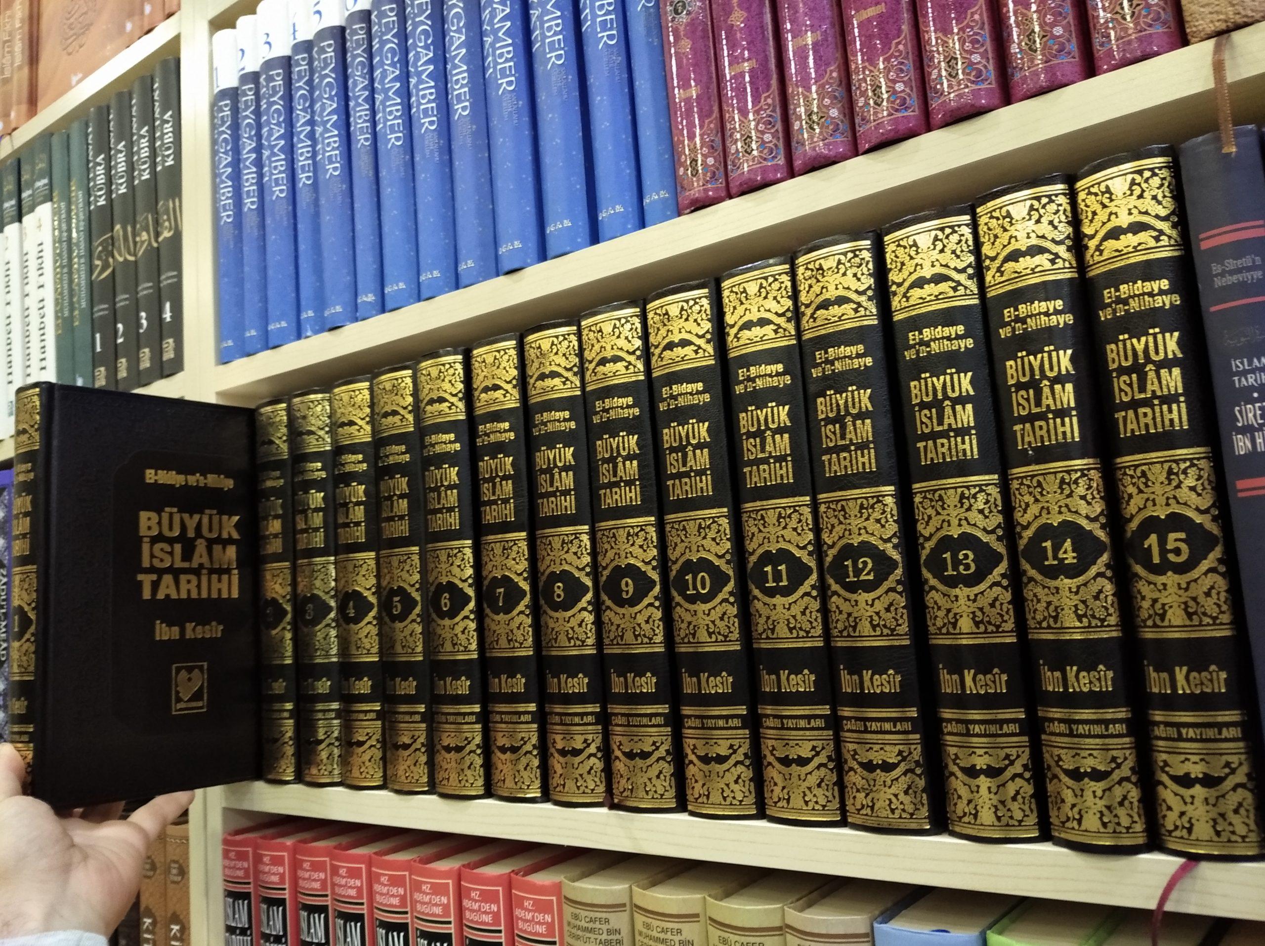 buyuk islam tarihi el bidaye ve n nihaye buyuk boy 15 cilt ithal kagit fitrat kitabevi